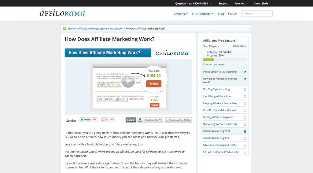 Affilorama Home Page