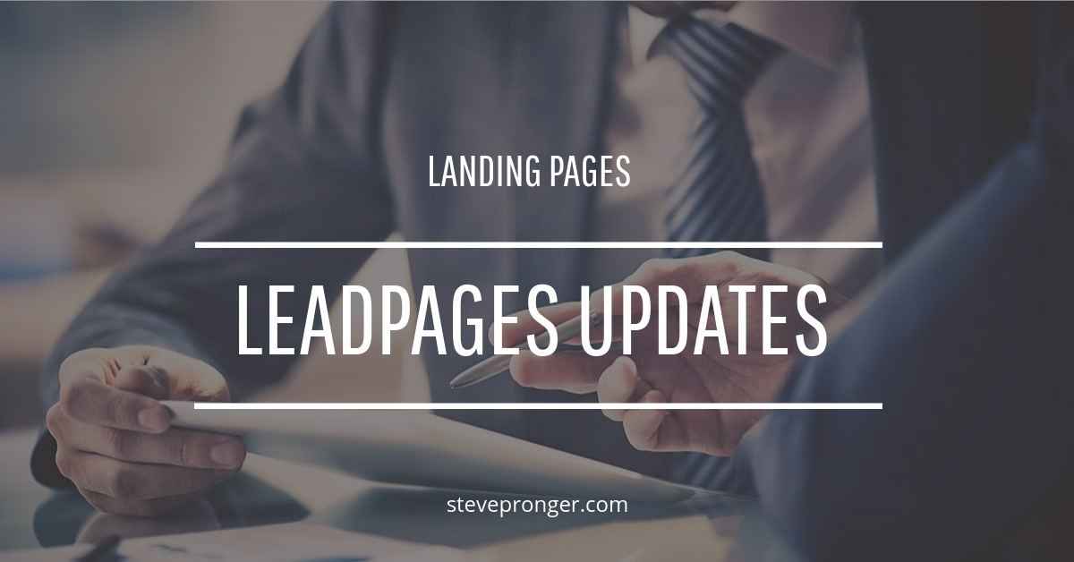 Leadpages Updates