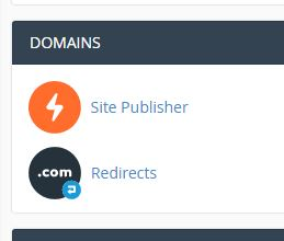 cPanel Hosting Redirect 1
