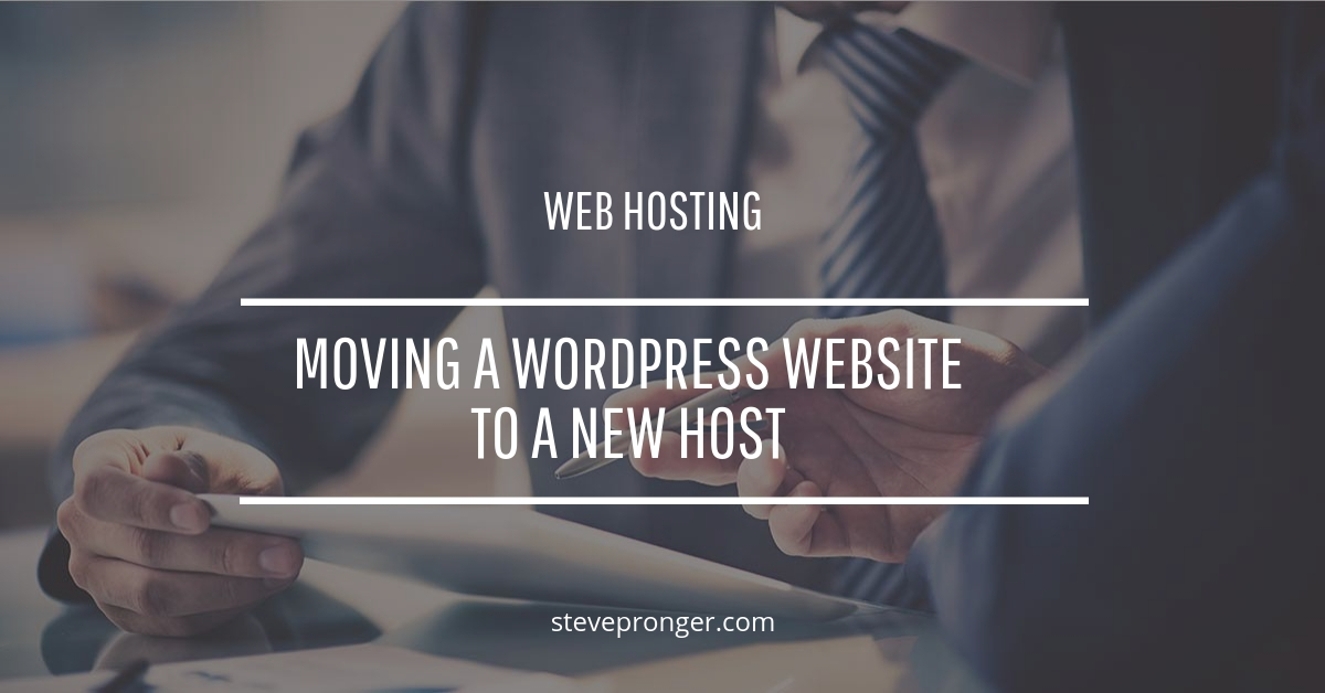 Move WordPress site to a new host