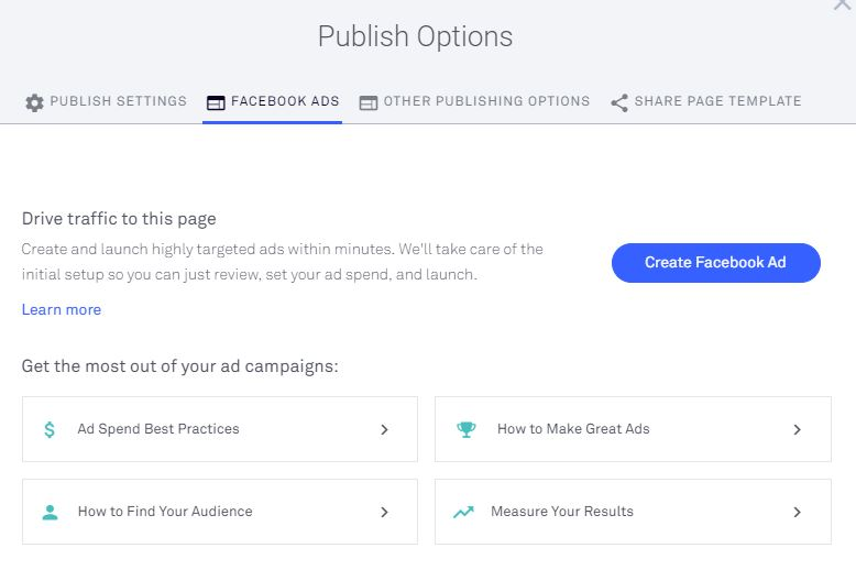 Leadpages Facebook Ad Creator