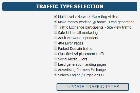 Kris Clicks traffic types