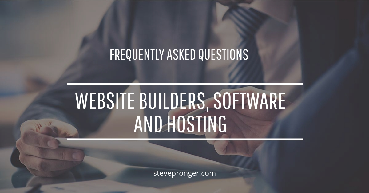 FAQ Website Builders Software and Marketing Tools